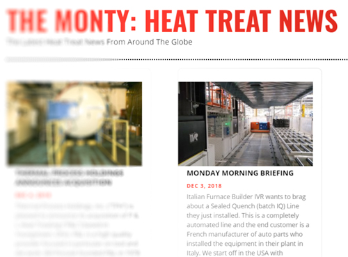 THE MONTY: HEAT TREAT NEWS